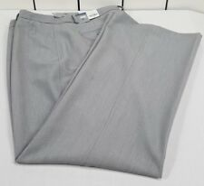 New With Tags Worthington Women's Dress Pants Gray Flat Front Trouser Size 16