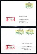 Germany Bund 1981-1982 set of 4 Registered ATM Mi 1 FDC covers to 300pf /DBP