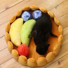 Cute Pet Dog Fruit Tart Bed Pad Keep Warm Kennel Cat Sleep Bed Mat Nest House NE