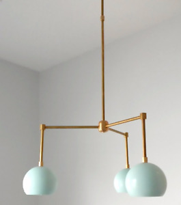 Modern Sputnik Chandelier Three Eyeball Shade Mid Century Ceiling Fixture Lamp