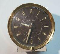 Westclox Baby Ben Wind Up Alarm Clock for Parts/Repair Cream Gold Glow Rnd Face