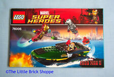Lego Super Heroes 76006 Iron Man: Extremis Sea Port Battle - INSTRUCTIONS ONLY