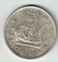 "CANADA 1949 SHIP ""THE MATTHEW"" SILVER DOLLAR KING GEORGE VI CANADIAN SILVER COIN"