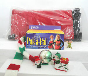 """New Medium (5-12 Lbs) Personal  """"Pet Carrier""""  by Pak-A-Pal Santa Claus Red"""