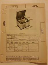 Clarion Radio Phono Model C101,Chicago, IL.,Repair Paper