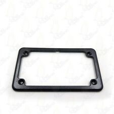 "Motorcycle License Plate Frame - Carbon Fiber Color 7"" x 4""  4x7"
