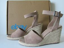 Vince Camuto Taupe Suede Ankle Strap Wedge Espadrilles Sandals size 9 NEW