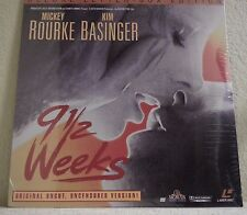 9 1/2 Weeks Laserdisc Kim Basinger Uncut - Uncensored Ml104781 Brand New