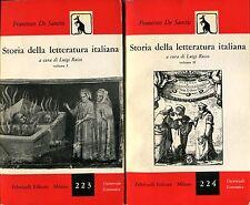 Francesco De Sanctis STORIA DELLA LETTERATURA ITALIANA c. Luigi Russo 2 VOLL.