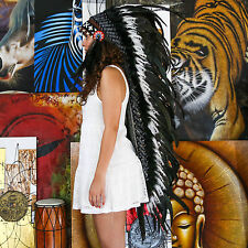 Real Chief Indian Headdress 135cm Native American Costume Feathers War Bonnet