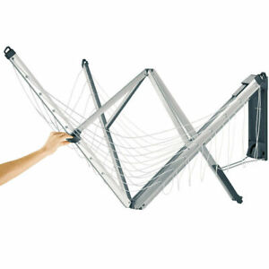 BRABANTIA Wall Fix Rotary Fold Away Clothes Line 24mm W/ Cover Wall Mount Washin