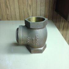 "2-1/2"" 200 Wog Brass Threaded Swing Check Valve"