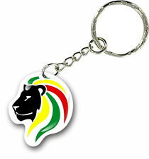 Porte clés clefs keychain voiture lion drapeau rasta jamaique rastafarai r2