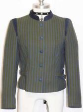 """COTTON Women JACKET Short AUSTRIA Trachten Summer BELTED Blazer Coat B37"""" 6 S"""