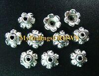 350 pcs Tibetan Silver ornate bead caps 6mm FC571