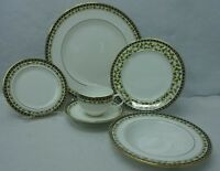 GORHAM china GRAND TAPESTRY pattern 6-piece PLACE SETTING with Soup Bowl