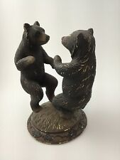 Rustic Dancing Bears Figure Whimsical  Woodland Animals Forrest Resin 9 inch