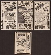 1974 DATSUN B-210 Lot of 4 Vintage Original French canadian newspaper ad 2-door