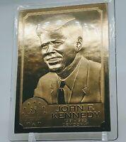 John F. Kennedy JFK 35th President 22kt Gold Foil Card - Danbury Mint