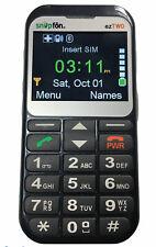 Snapfon EZTWO-3G Dark Grey SOS Hearing Aide Compatible - Tested WORKS No charger