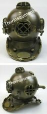COLLECTIBLES ARMOUR US NAVY DIVING HELMET  SOLID BRASS IRON ANTIQUE FINISH GIFT
