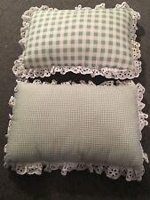 Green Gingham Check Pillows