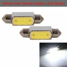 2X Universal 39mm 3W LED Bulbs Dome Festoon White Light Lamp For License Plate