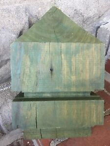 Large Pressure Treated Solid Wood Newel Post Finial Heavy Architecture Salvage
