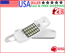Telephones Basic Trimline Corded Phone, No AC Power Required, Wall-Mountable