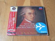 Mozart : Davide Penitente, Les Petits Riens - Marriner - Decca Japan NEW