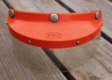 Vintage Bell RT Motorcycle Helmet Orange Visor w/ Face Shield R-T Vista 520