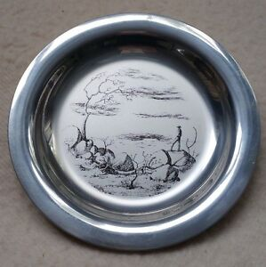 RUSSELL DRYSDALE (1912-81): Limited edition sterlling silver plate Western Lands
