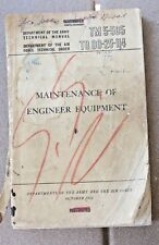 Korean war book Maintenance of Engineer Equipment Book TM 5-505