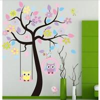 Decals Decor Art Home Removable Owl Mural Wall Stickers Kid Baby Nursery Tree NL