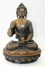 "F629 Exclusive Metal Statue of  Blessing Buddha 12.9"" tall Hand Crafted in Nepal"