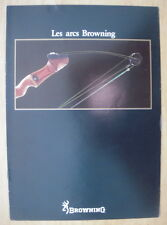 CATALOGUE LES ARCS DE CHASSE BROWNING VERS 1980