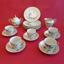 Service thé café porcelaine 5 personnes décor dragon - Top China Kutani