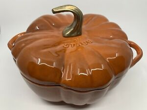 Staub 3.5 qt. Cast Iron Pumpkin Cocotte