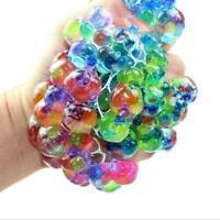 1Pc Light up Mesh sensory stress reliever ball toy fidget squeeze autism C8Z2