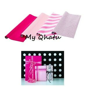Ikea Gift Wrap, Wrapping Paper, PINK  Polka  Rolls, 4 Pack Framstalla NEW