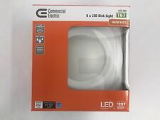 Commercial Electric 6 in. White Light LED Recessed Gimbal Trim Ceiling Lighting