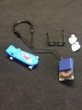 (BY) Barbie Doll Mini Cd Player Walkman Headphones  Skateboard Ear Rings Glasses