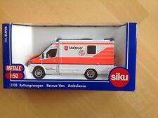Siku 2108 MHD Rettungswagen Werbemodell Malteser Hilfsdienst,Wache Wildeshausen