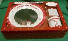 SANTA'S MESSAGE PLATE MILK AND COOKIES SET SWEET AND SIMPLE BY CHILD TO CHERISH