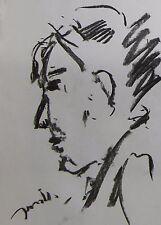 JOSE TRUJILLO MODERN EXPRESSIONIST ORIGINAL CHARCOAL DRAWING COLLECTIBLE ARTWORK