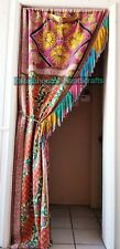 Indian Cotton Handmade Kantha Curtain Drape Window Decor Multi Curtain