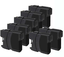 7 NEW BLACK Ink Jet Cartridge for LC61BK Brother MFC 255CW 290C 490CW 495CW