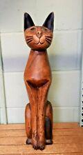 Large Decorative Wooden Cat Ornament or Doorstop GR73
