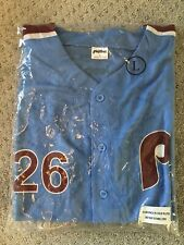 VINTAGE MLB PHILADEPHIA PHILLIES #26 CHASE UTLEY RETRO POWDER BLUE SGA JERSEY