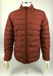 Only & Sons Andi Quilted Puffer Jacket, Mens, Tomato Red